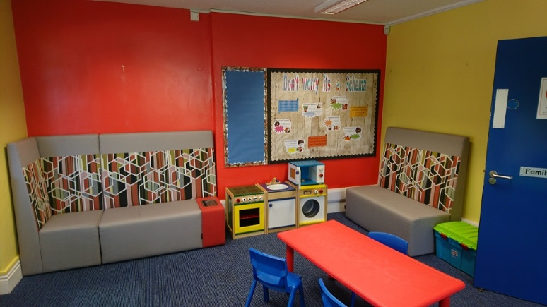 Ex-showroom Boulevard units being used at a local Childrens centre